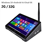 Tablet computer,Mini PC, TV box, original PIPO X8 Mini PC Intel Z3736F Quad Core Windows 10 Dual OS TV BOX 2GB / 32GB TV Box 7 Inch Screen