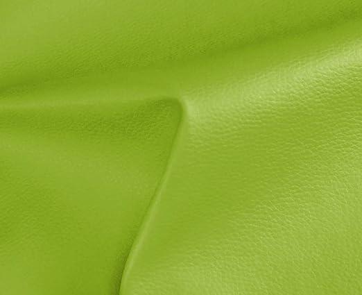 1 Metro de Polipiel para tapizar, Manualidades, Cojines o forrar Objetos. Venta de Polipiel por Metros. Diseño Solar Color Verde Manzana Ancho 140cm