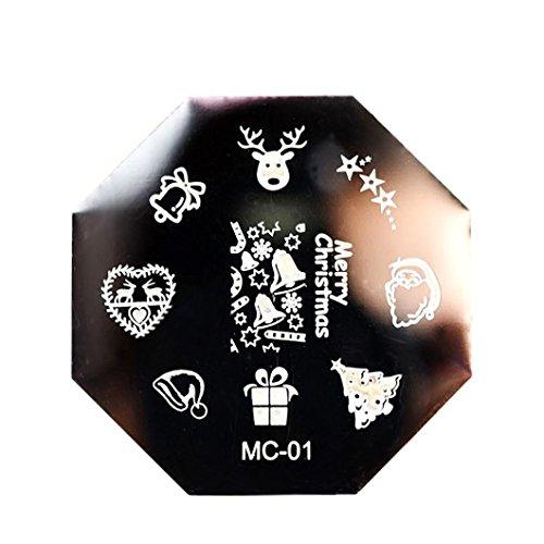 Leoy88 Christmas DIY Stamp Plates Template Nail Art Plate (Skull Makeup Kit)