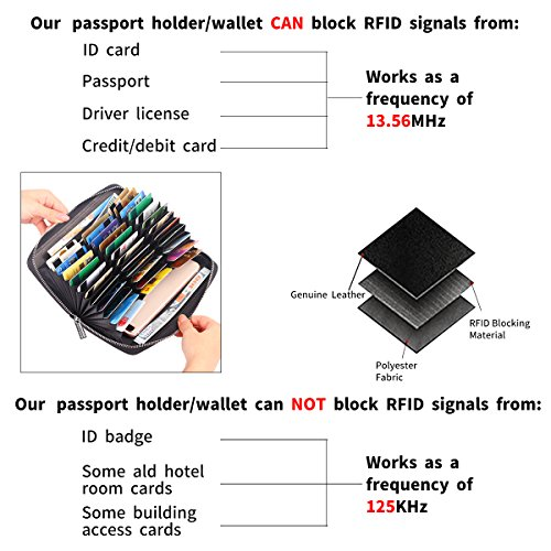 phone Theft Wallet Black Blocking Capacity Long RFID Anti Purse 36 Cell Large for Card Slots Credit Passport IqTpZaw
