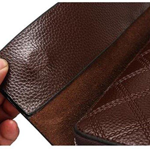 Manos Billetera Bolso Carteras Billetera Mano de Brown LEIU Billetera de de Embrague Gran Capacidad para Hombres Bolsa Hombres con de los vqAwdwa0x