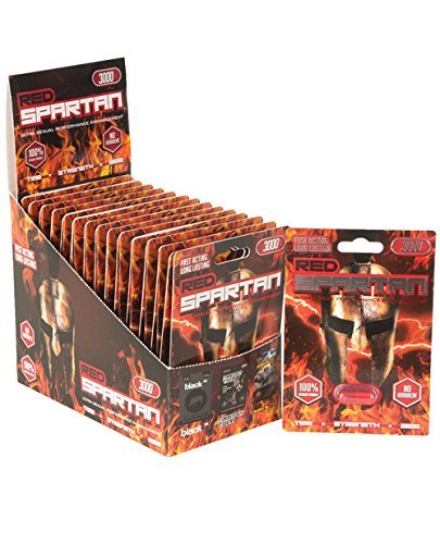 Red Spartan 3000 -24 pill Male Enhancement Sex Pill - All Natural Performance by Rhino