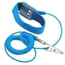 Sonline Wireless Anti Static Discharge Band Ground Wrist Strap Belt - Sky Blue