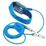 SODIAL(R) Anti-static wrist strap blue
