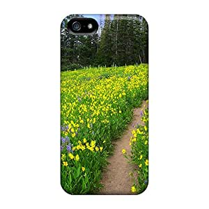 Tpu Shockproof/dirt-proof Summer Meadow Cover Case For Iphone(5/5s)