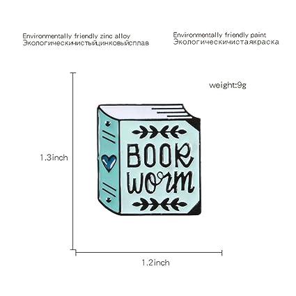 JTXZD Broche Libro Azul Pasadores de Esmalte Dibujos ...
