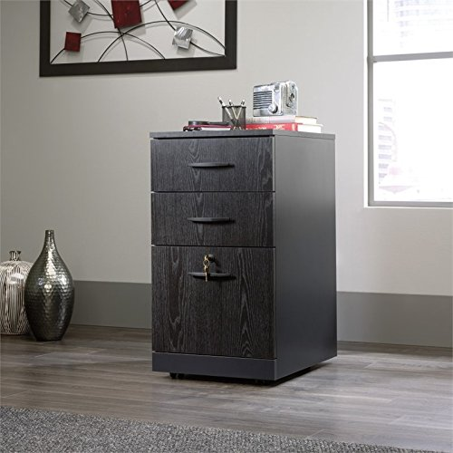 Sauder 419611 Via 3-Drawer Pedestal, Bourbon Oak Finish ()