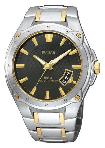 Pulsar Men's PXH825 Sport Black Silver Watch