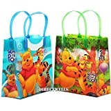 Winnie the Pooh Disney Authentic Licensed Party Favor 12 Reusable Goodie Medium Gift Bags 8""