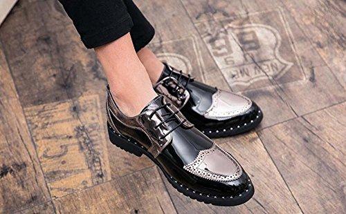 Zapatos Plateado 39 Negro Hombres de Casuales Zapatos de 44 nuevos para Plata Ligero Negocios Tendencia Color Cómodo Hombres Juvenil para Dorado rrwSfqa