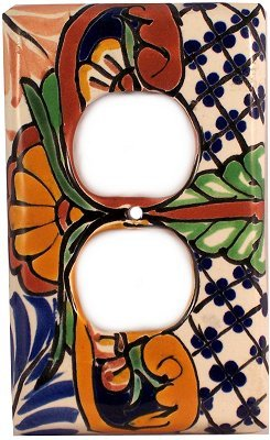 Outlet Mantel Talavera Switch (Ceramic Wall Switchplate)