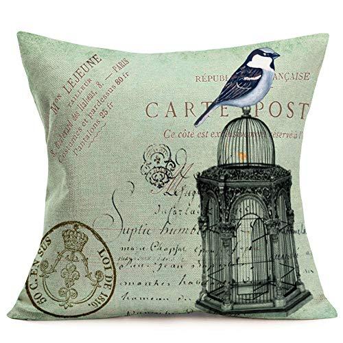 Asamour Throw Pillow Covers Farmhouse Home Decorative Pillowcase