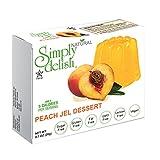 Simply delish Natural Peach Jel Dessert, Sugar free, 0.7 oz., 6-pack – Fat Free, Gluten Free, Lactose Free, Non GMO, Kosher, Halal, Dairy Free, Natural