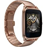 """ASUS ZenWatch 2 Smartwatch 1.63"""" Stainless Steel - Rose Gold/Rose Gold Metal Band (Certified Refurbished)"""