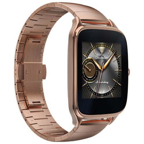 ASUS ZenWatch 2 Smartwatch 1.63'' Stainless Steel - Rose Gold/Rose Gold Metal Band (Certified Refurbished) by Asus