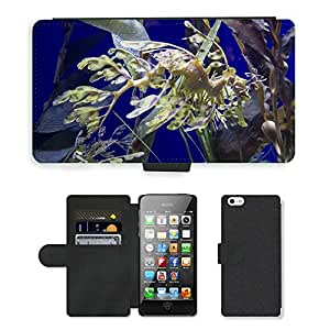 GoGoMobile PU LEATHER case coque housse smartphone Flip bag Cover protection // M00124658 Mar-Caballo Pez Mar Océano Agua // Apple iPhone 5 5S 5G