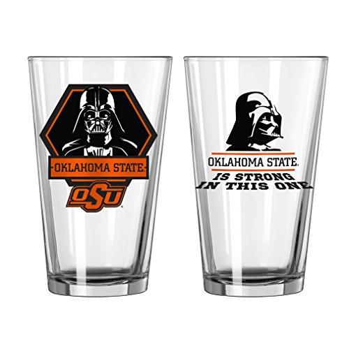 Ncaa Oklahoma State Cowboys Glass - NCAA Oklahoma State Cowboys Star Wars Pint Glass, 16-ounce, 2-Pack