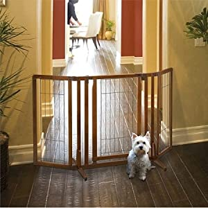 Domestic Pet Gates Premium Plus Freestanding Pet Gate With Door Easygoing 94