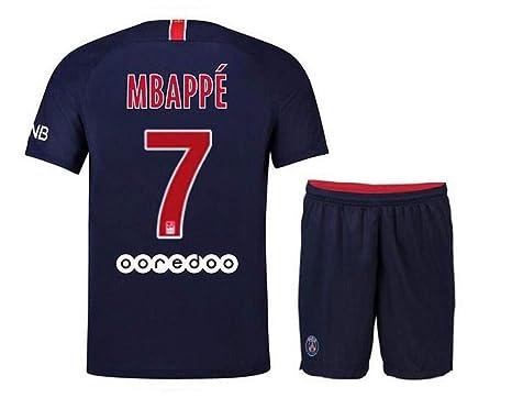 reputable site 023bc 58e37 Amazon.com: quderte Kids Saint Germain Mbappe Jerseys # 7 ...
