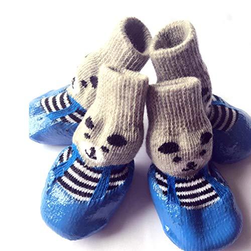 De Black Bottes Chiot Neige Chaussettes Lanlan Coton Chien Chaussures Petits Pour Étanche Chats Chiens Pluie Antidérapant Pet qETpaTWnw