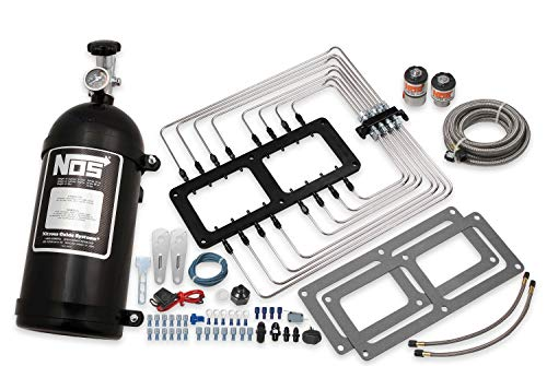 - NOS 02520BNOS Supercharger Wet Nitrous System w/Black Injector Plate & Black Plumbing for 6-71/8-71 Roots Style Superchargers