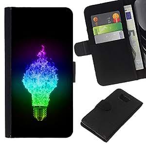 Stuss Case / Funda Carcasa PU de Cuero - Ligtbulb Colores Glow - Samsung ALPHA G850
