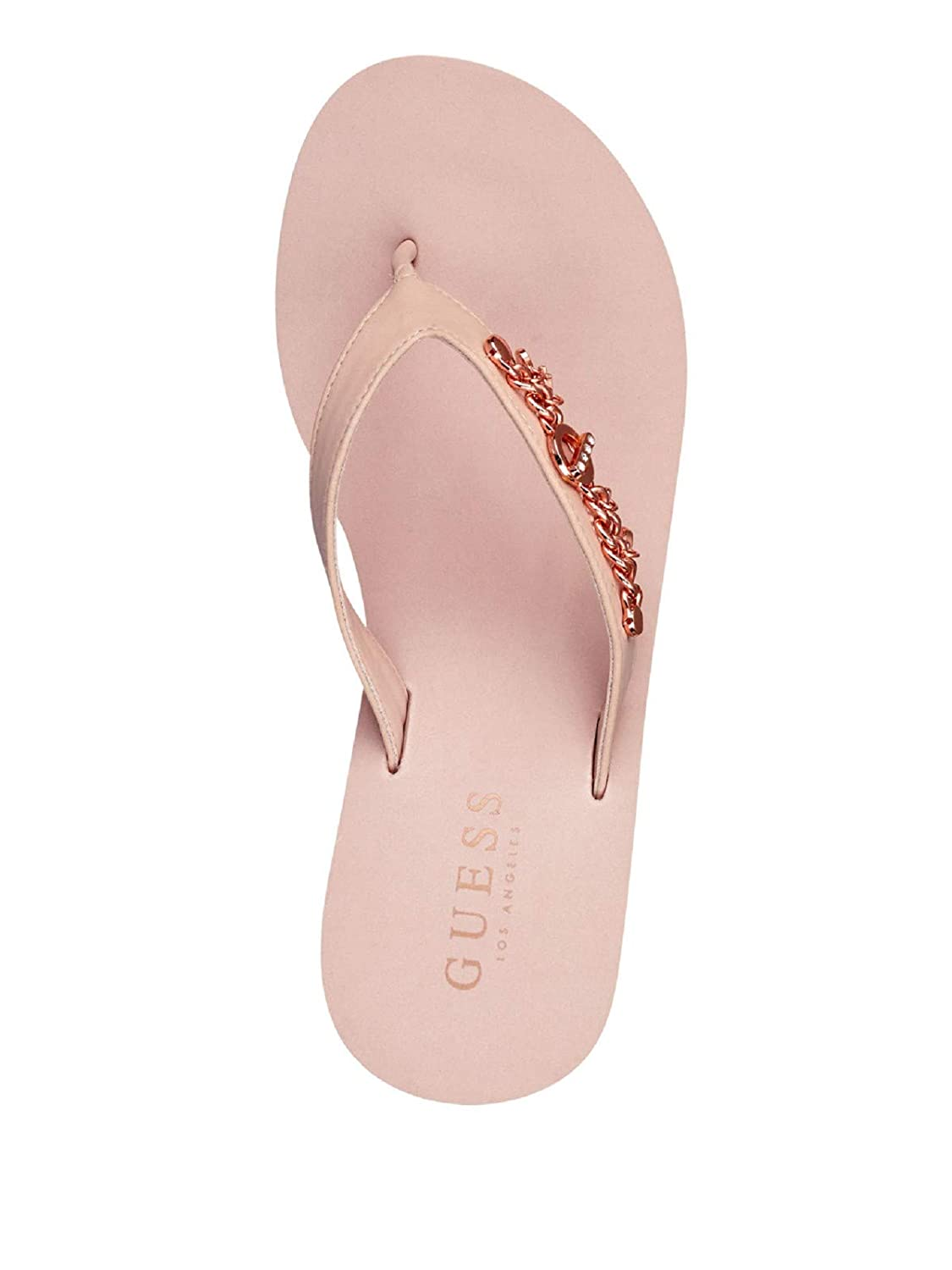 GUESS Factory Womens Scout Wedge Flip Flops