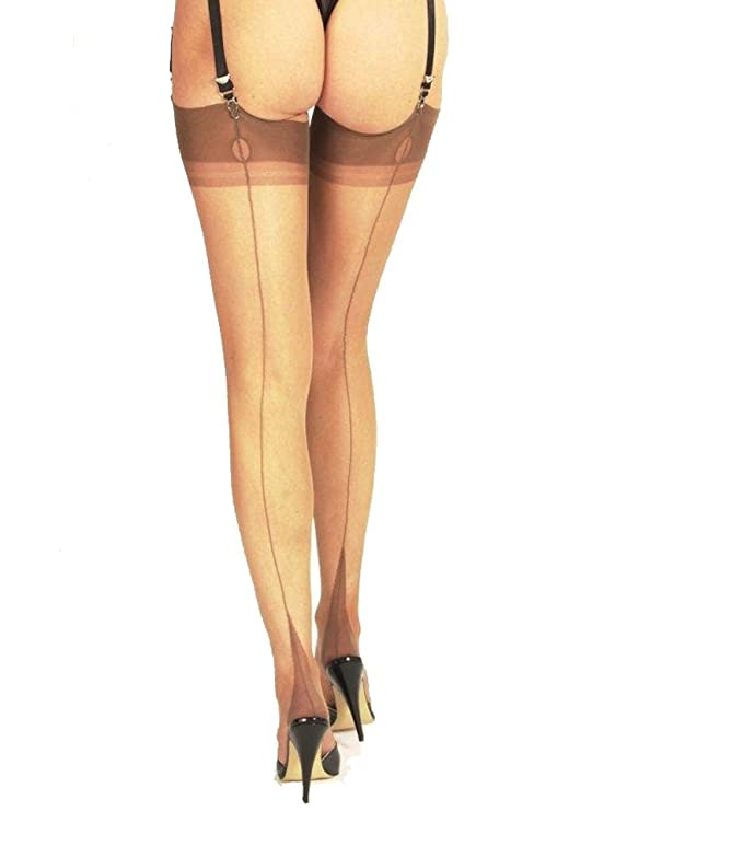 1920s Style Stockings, Tights, Fishnets & Socks Gio 100% Nylon Point Heel Full/Fully Fashioned Stockings $29.99 AT vintagedancer.com
