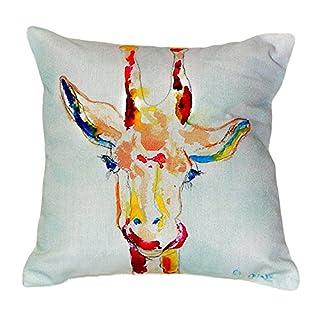 """Betsy Drake NC048 Giraffe No Cord Pillow, 18"""" x18"""""""