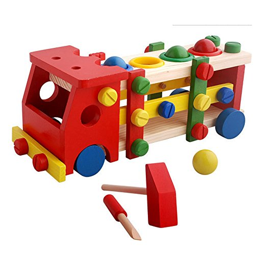 wood-education-child-scrap-screw-car-disassembly-removable-multifunction-knock-ball-tinker-toy