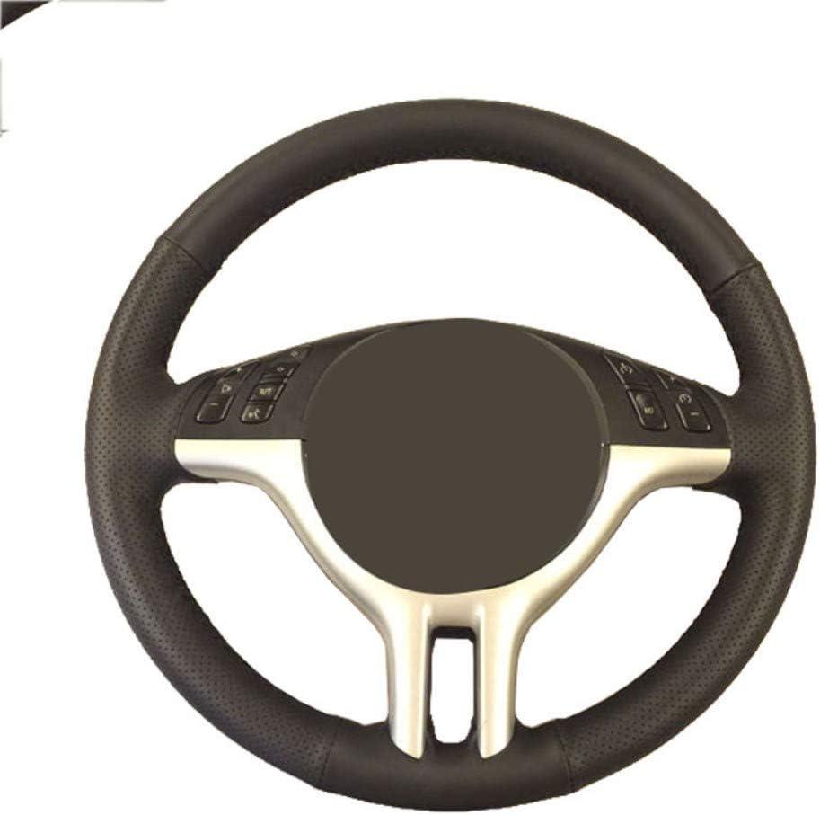 DANDELG Trenza del Volante del autom/óvil//Funda de Cuero para el Volante del autom/óvil dedicada para BMW E39 E46 325i E53 X5