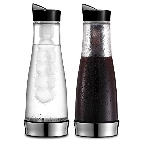 Non Glass Coffee Maker : Cold Brew Coffee Maker - Iced Coffee Glass Pitcher Carafe 41oz Drink Chiller with Non-Diluting ...
