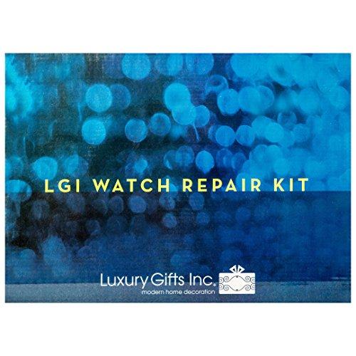 LGI Premium Watch Repair Kit with Reusable Aluminum Box - 20pcs DIY Watch Tool Kit