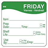 """DayMark Day of The Week 2"""" x 2"""" Removable Label, Friday (Roll of 500)"""