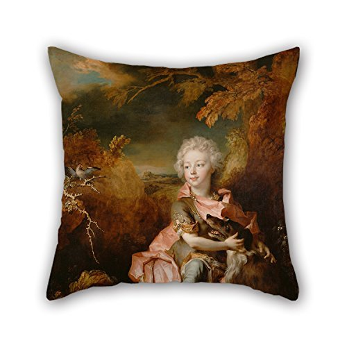 Elegancebeauty 18 X 18 Inches / 45 By 45 Cm Oil Painting Nicolas De Largillierre (French - Portrait Of A Boy In Fancy Dress Pillowcase ,2 Sides Ornament And Gift To Bench,home,boys,office,kids (Rainbow Bright Fancy Dress)