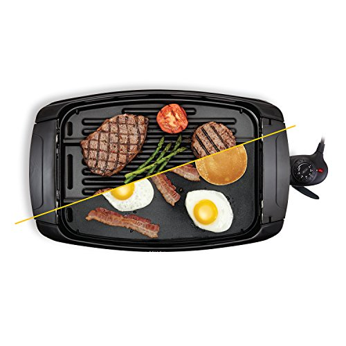 BELLA 2 In 1 Reversible Grill Griddle Combo, 1500 Watts, Non Stick BPA Free