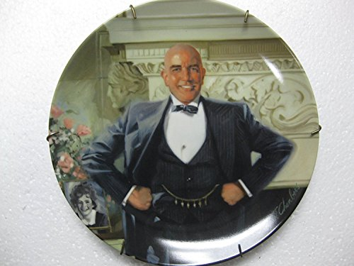 """Edwin M. Knowles- Little Orphan Annie China Collector Plate """"Daddy Warbucks"""" 2nd In Series Of 8 (1982 Knowles China Co/Tribune)"""