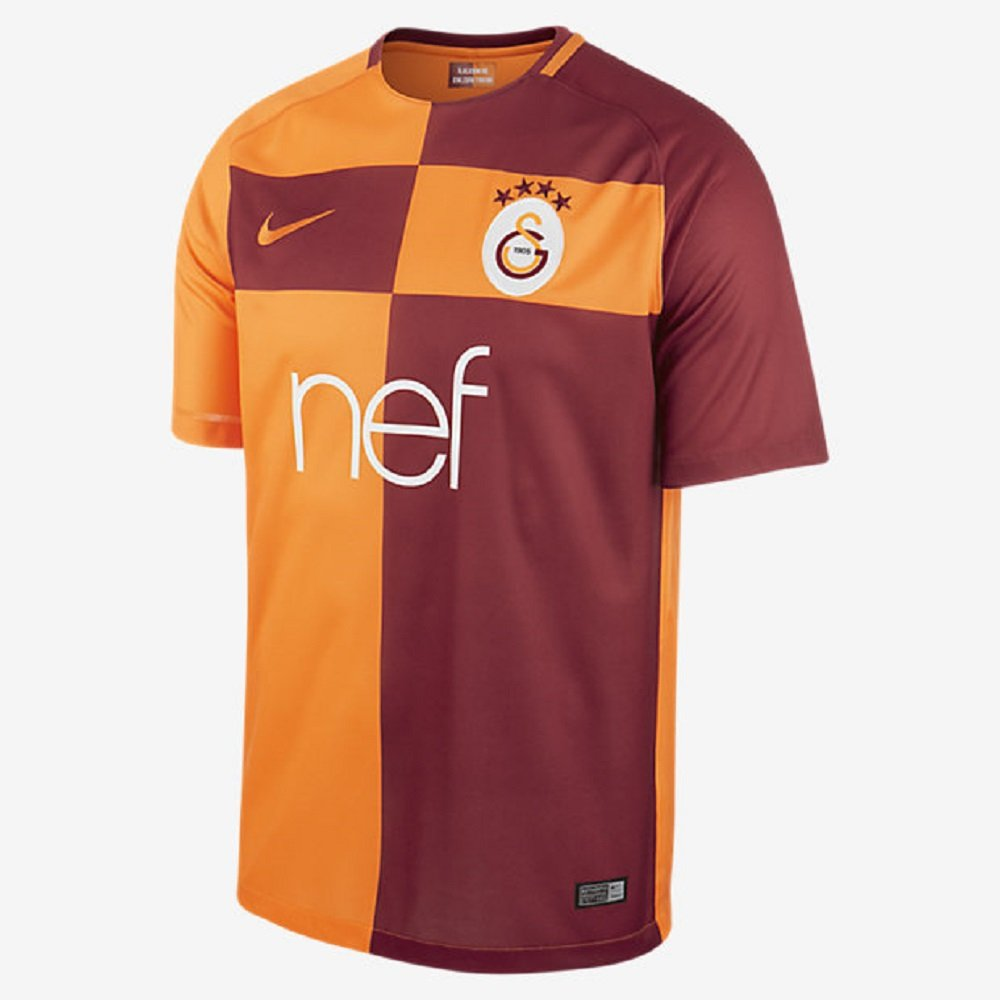 Nike Galatasaray SK Home Soccer Stadium Jersey 2017-18 / サッカーユニフォーム ガラタサライSK B071JMQPX9 Small 34-36