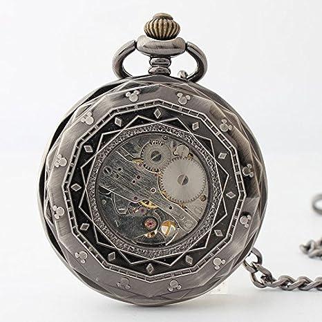 HBB reloj retro / cuerda manual mecánica relojes de mesa / pareja colgando Dingqingxinwu: Amazon.es: Deportes y aire libre