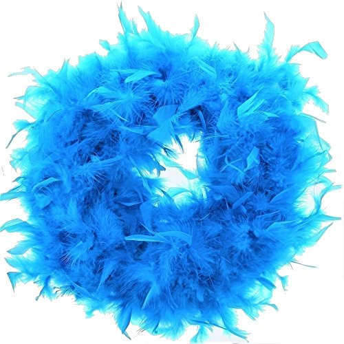 Zac's Alter Ego® Women's Fancy Dress Feather Boa - Great for Burlesque/Hen Dos 1.6M Turquoise -