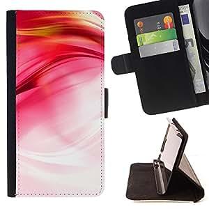 - Pink Fluid Silk Bright White - Estilo PU billetera de cuero del soporte del tir???¡¯???3n [solapa de cierre] Cubierta- For HTC Desire 820 ( Devil Case )