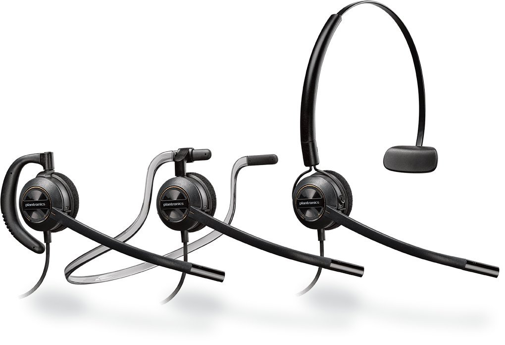 NEC Compatible Plantronics EncorePro 540 Headset Bundle - NEC Elite | Dterm Series i | Dterm IP | Dterm Elite | Series E | DSX | Aspire | NEC i-Series | Dterm Series III | Univerge | DT300 | DT700 by Plantronics
