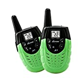 Kids Walkie Talkies, Two-way Radios Rechargeable Long Range Walky Talky for Children, Cool Outdoor Electronic Toys Gifts For Girls/Boys, Green (Pair)