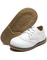 Toddler Kids Boys Girls Leather Loafers Slip On Boat Dress Oxfords Shoes Flats