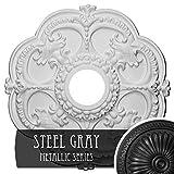 Ekena Millwork CM17ROSGS Rotherham Ceiling Medallion, Steel Gray