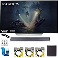 LG 55' C7P OLED 4K HDR Smart TV OLED55C7P w/LGSJ9 Hi-Resolution Sound Bar Bundle