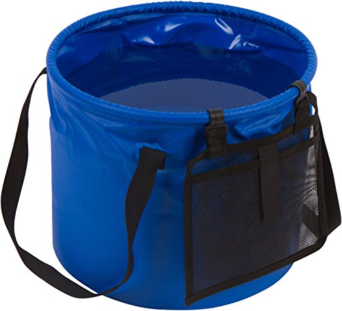 (4.2 Gallon Portable Collapsible Camping Water Container Bucket by Trademark Innovations (Blue) )