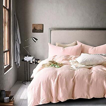 smartness better homes and gardens bedding. Lausonhouse 100  Linen Duvet Cover Set Queen Light Pink Amazon com