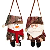 Riverbyland Fabric Christmas Candy Gift Bags 13'' x 9'' Fireplace Decor Set of 2