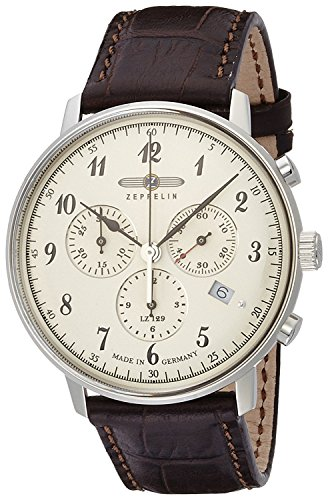 ZEPPELIN watch Hindenburg white dial Chronograph Date 70,864 Men's [regular imported goods]